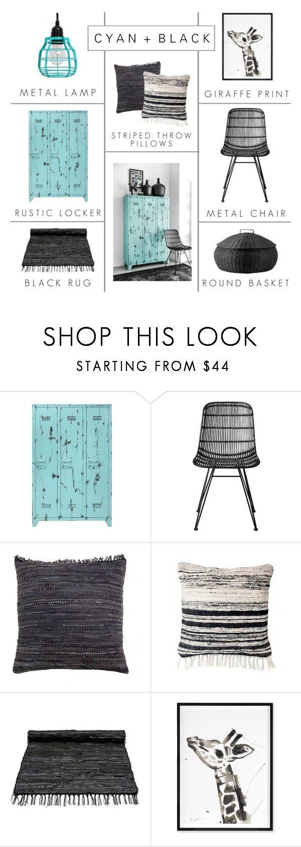 """""""Cyan + Black"""" by c-silla ❤ liked on Polyvore featuring interior, interiors, interior design, home, home decor, interior decorating, Bloomingville, Jonathan Adler and DAY Birger et Mikkelsen"""
