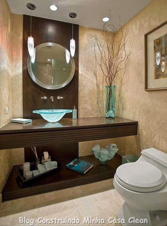 30 dicas de banheiros e lavabos decorados e modernos vilaclub - Lavabos Modernos