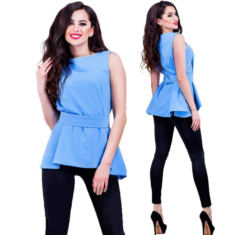 ea5683d9a4c 2017 Sakazy New Fashion Women Chiffon Blouses Ladies Tops Female Sleeveless  Shirt Blusas Femininas White