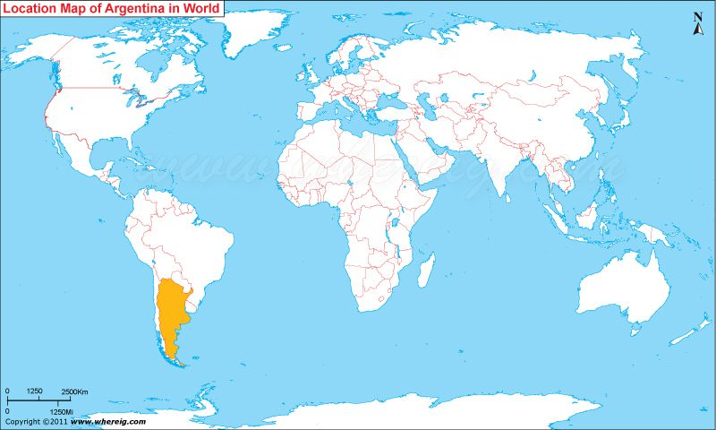 Where is argentina located on the world map argentina pinterest where is argentina located on the world map gumiabroncs Choice Image