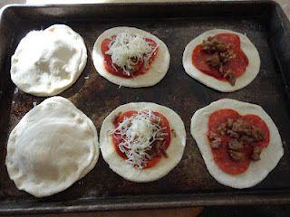 Homemade Pizza Pockets  (Freezer Friendly!)