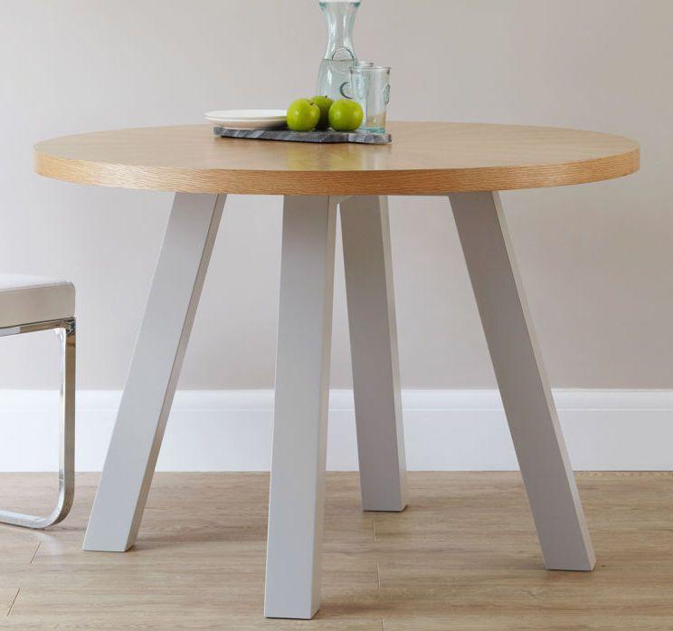 Arc 4 Seater Oak Dining Table Oak Dining Table Grey Dining Tables 4 Seater Dining Table
