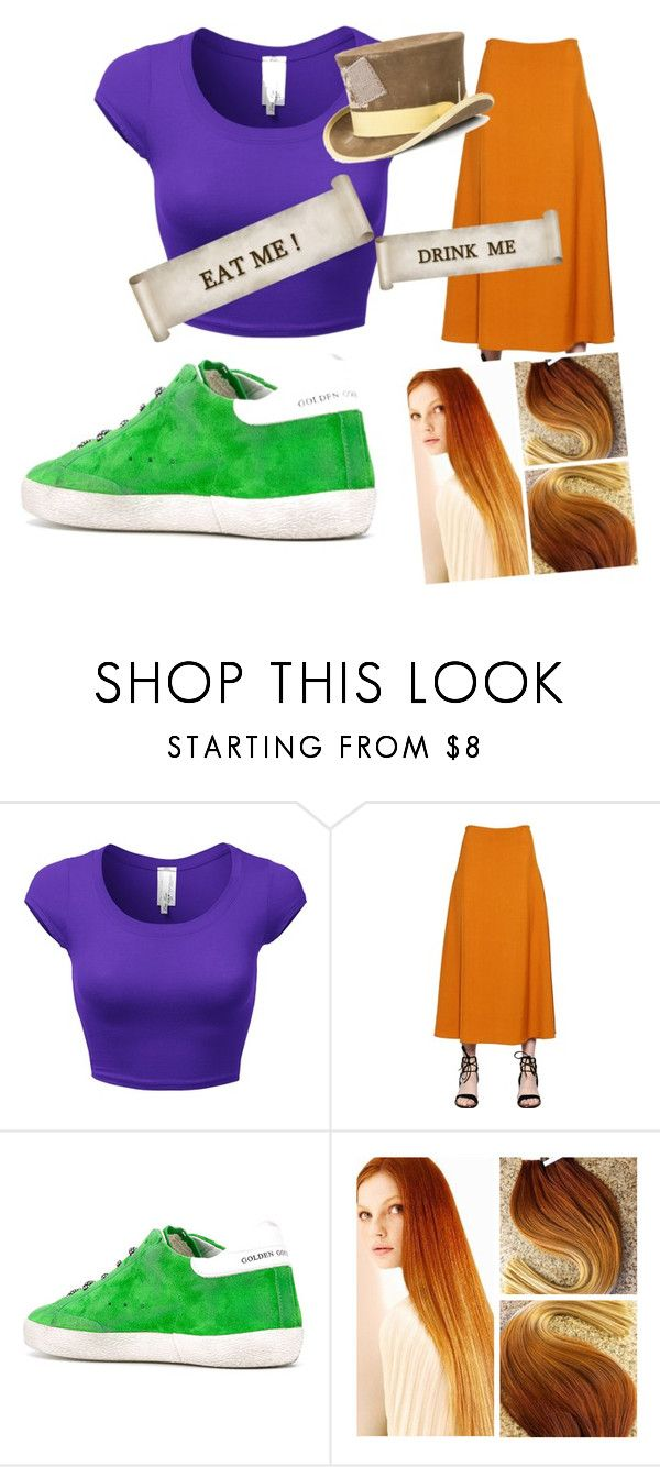 """""""girl mad hatter"""" by meredithconnor ❤ liked on Polyvore featuring Rosetta Getty, Golden Goose and Nick Fouquet"""
