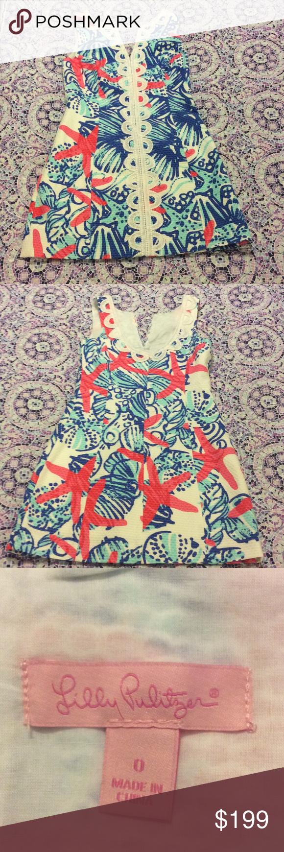 NWOT Lilly Pulitzer she she shells shift This dress is brand new but it has been hemmed! Please do not make unreasonably low offers, this is a hard to find print. Lilly Pulitzer Dresses Mini