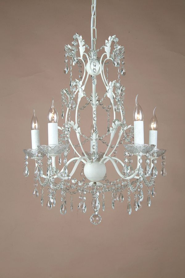 French shabby chic chandelier 5 arm branch glass cup cottages french shabby chic chandelier 5 arm branch glass cup aloadofball Gallery