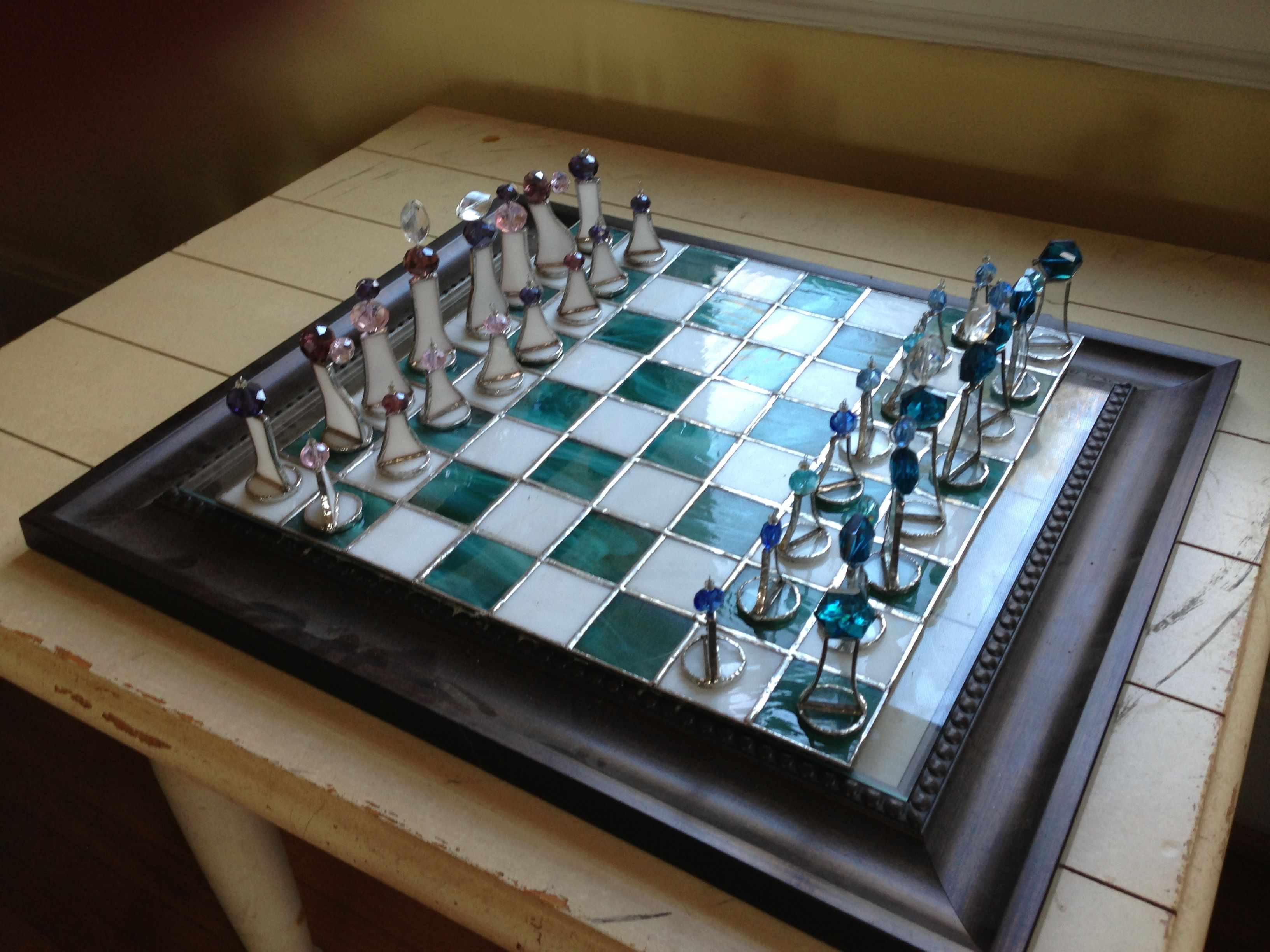 Stained Glass Chess Set Crafts I 39 Ve Done Pinterest