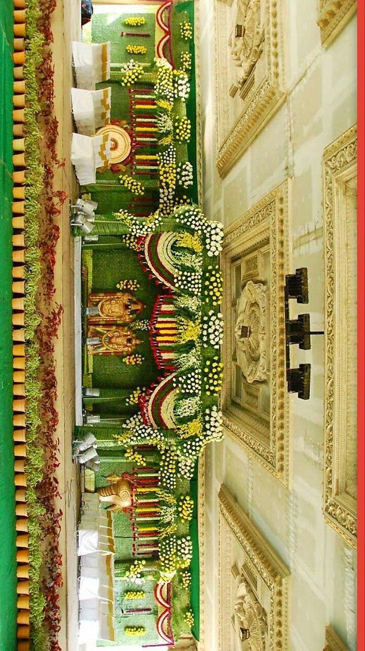 Wedding stage decoration design  Pin by Chakri Plati on decorative decorations  Pinterest