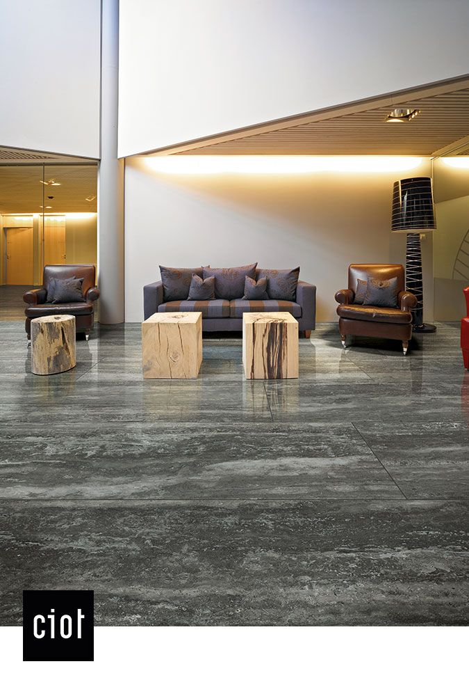 magnum travertini black porcelain tile slab interior design home - Stone Slab Kitchen Decor