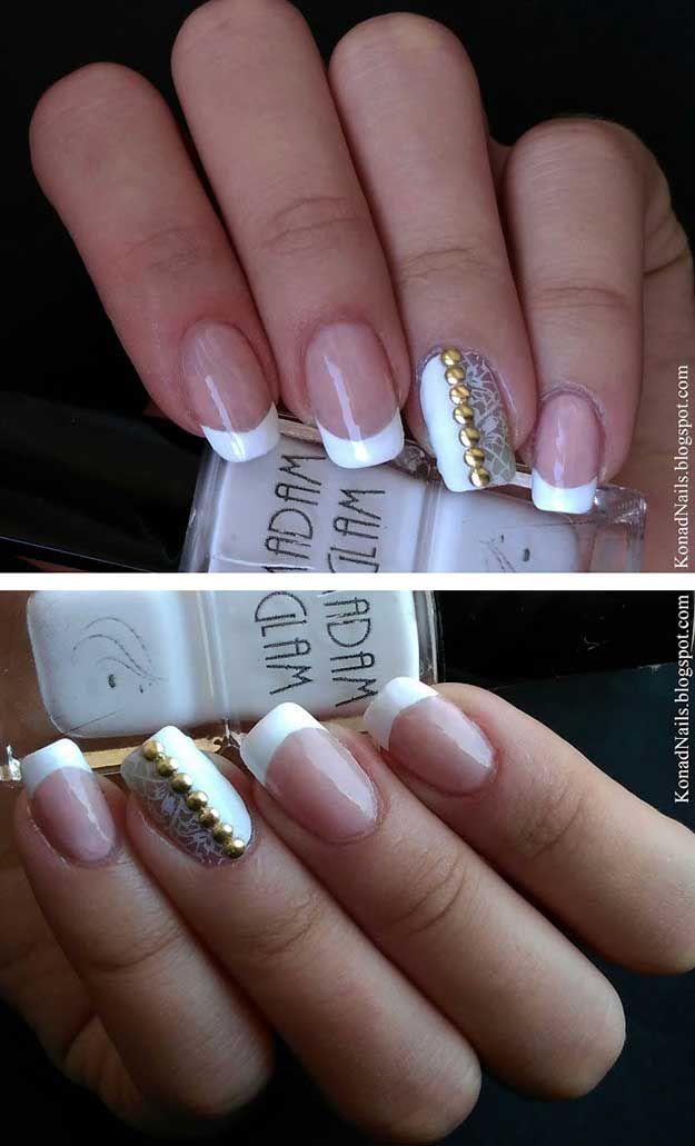 35 Unbelievably Brilliant French Manicures To Do At Home | Pinterest ...