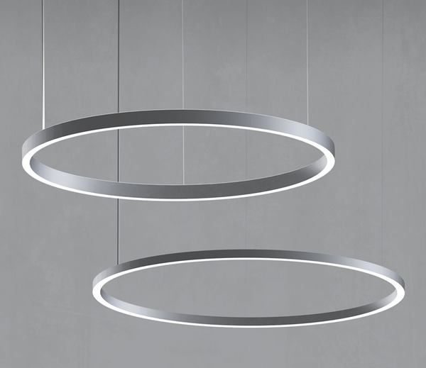 Uno and Duo LED Pendants, Delray Lighting These circular ...