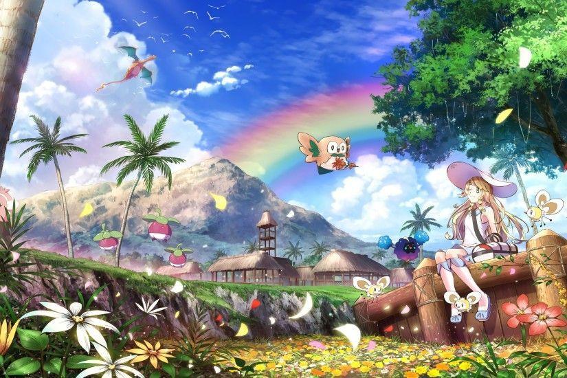 Hd Wallpaper Background Id 793648 2901x1622 Video Game Poka C Mon Sun And Moon Pokemon Sun Anime Wallpaper Awesome Anime