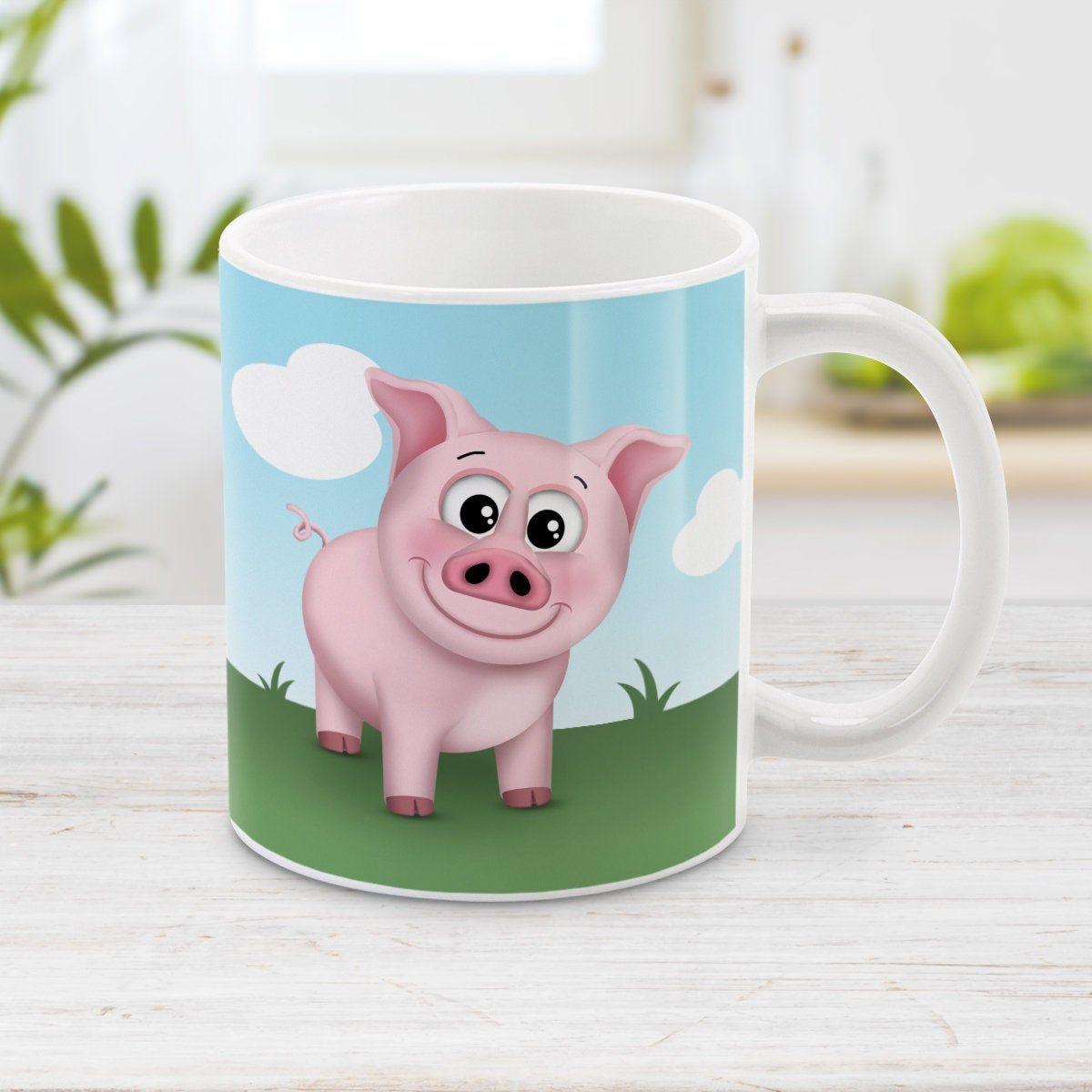 Cute Pig Mug Happy Pink Pig On The Farm 11oz Or 15oz Etsy Pig Farming Cute Pigs Mugs