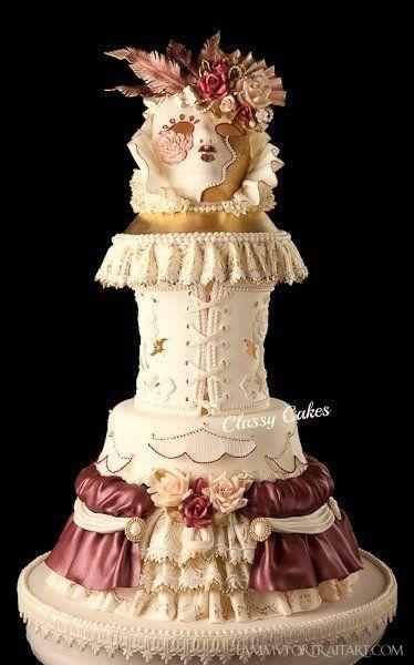 Masquerade - by Classy Cakes By Diane @ CakesDecor.com - cake decorating website
