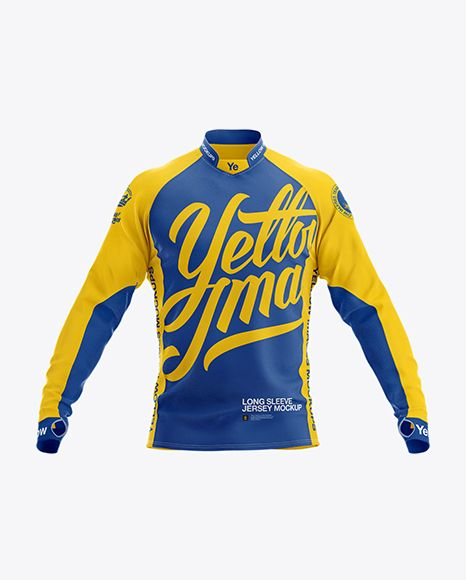 Download Long Sleeve Jersey Mockup Front View In Apparel Mockups On Yellow Images Object Mockups Clothing Mockup Shirt Mockup Long Sleeve Jersey