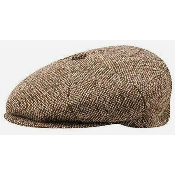 3e0bc4a475ab4 Bailey Hats Bailey Galvin Tweed Newsboy Cap - Brown ( 58) ❤ liked on  Polyvore featuring accessories