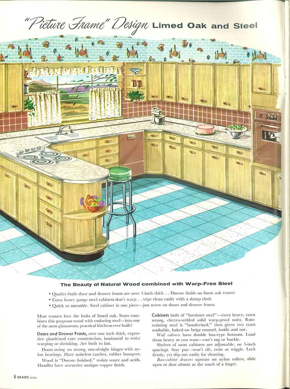 1958 Sears Kitchen Cabinets And More 32 Page Catalog Picture Frame Designs Retro Kitchen Home Decor Kitchen