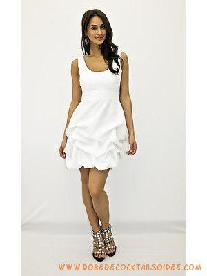Robe soiree blanche courte pas cher