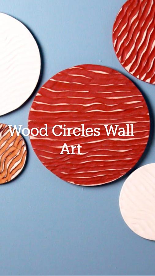 Wood Circles Wall Art