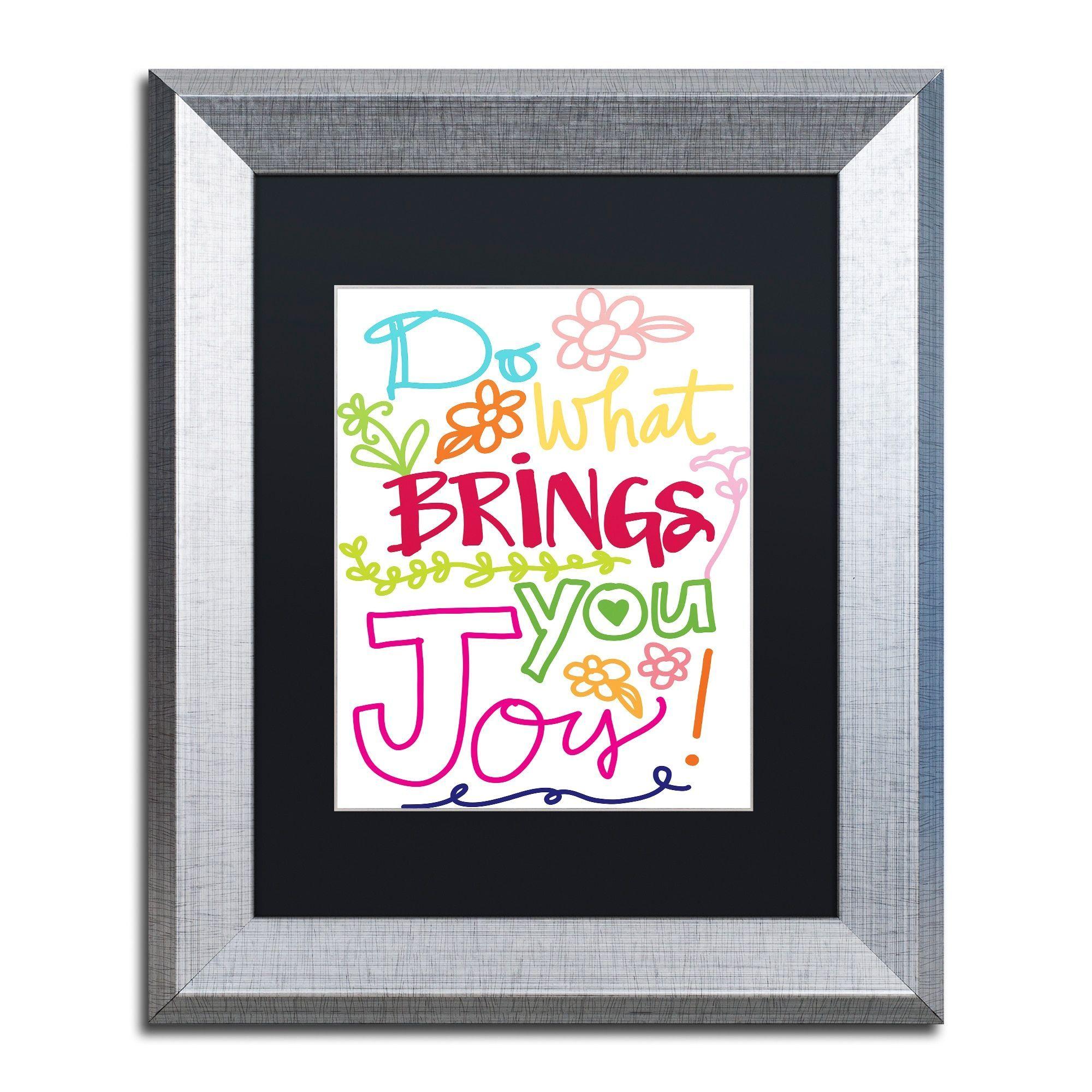 Elizabeth Caldwell 'Find Joy' Matted Framed Art