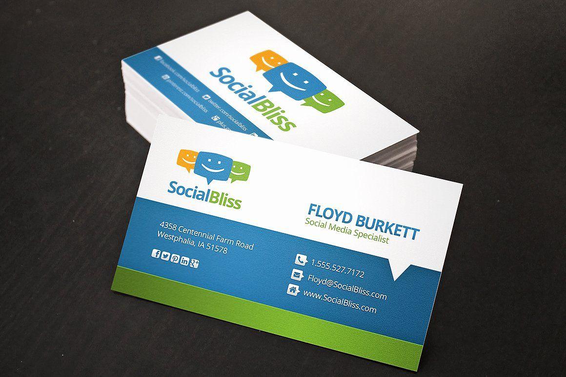 Social Media Business Cards Template Fresh Social Media Business Card Business Card Te In 2020 Social Media Business Cards Media Business Cards Marketing Business Card
