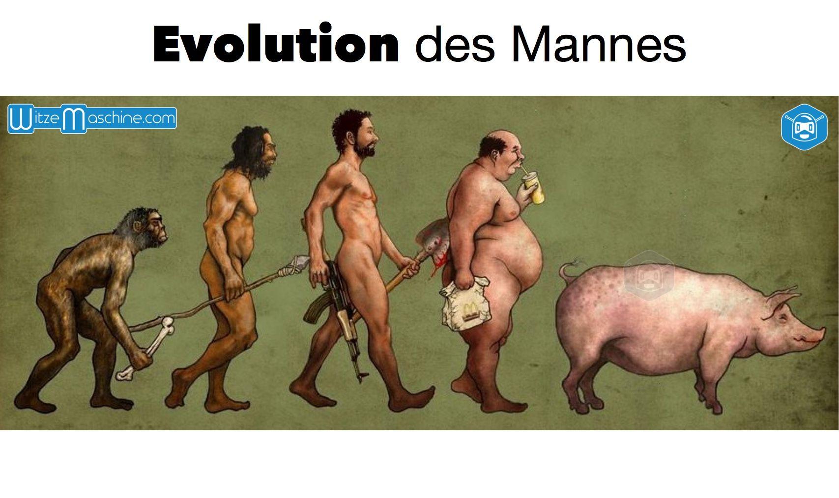 Evolution Des Mannes Witzig Funny Evolution Men Bilder Witzig