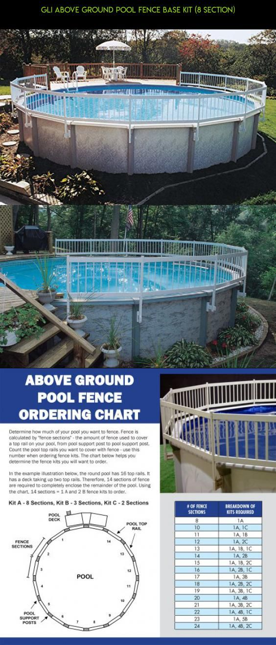 Gli Above Ground Pool Fence Base Kit 8 Section Technology Parts Products Plans Fpv Shopping In Ground Pools Above Ground Pool Above Ground Pool Fence