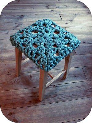 Crochet Extreme Banquinho De Croche Trico E Croche Quadrados De Croche