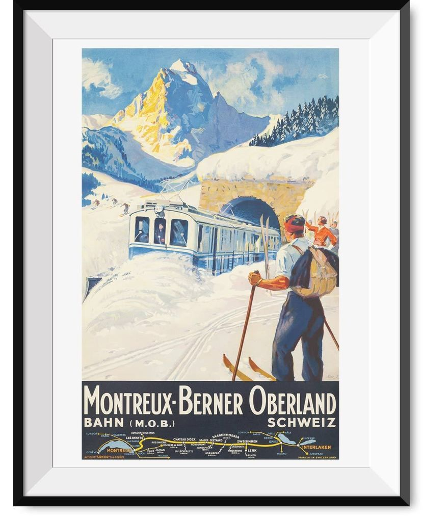6 sizes, matte+glossy avail Vintage Travel Poster Travel the World #1
