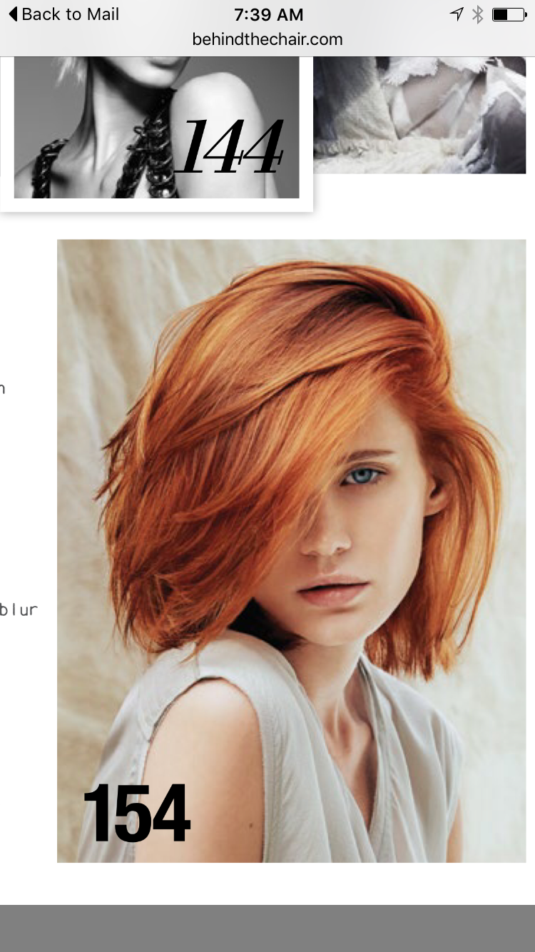 Copper bob beauty hair pinterest bobs hair coloring and red