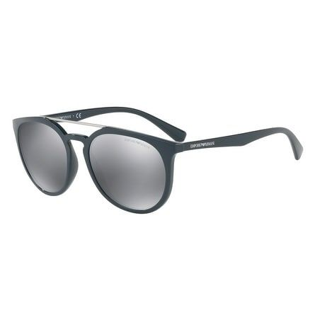 ea37e3eaa52 Emporio Armani Mens s EA4103F 55966G 58 Light Grey Mirror Black Rectangle  Sunglasses -