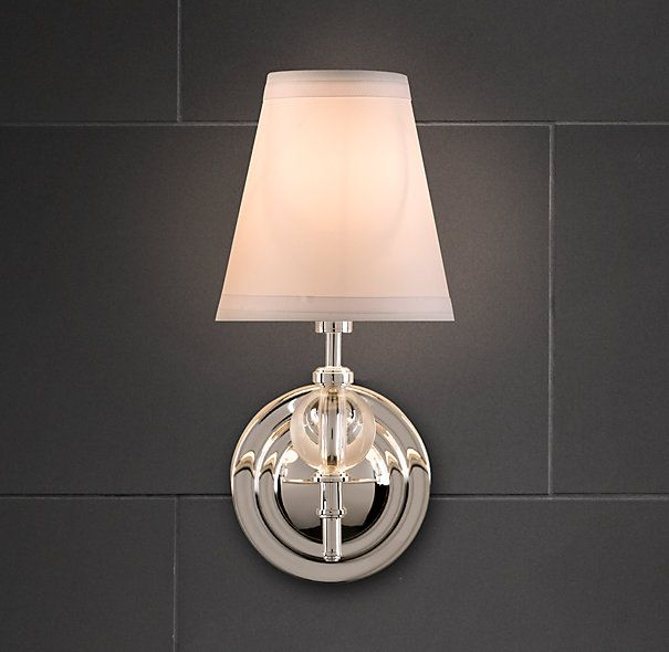 Chandelier Wall Sconce For Bathroom : Wilshire Single Sconce I think this is the one in the other pictured bathroom with white round ...