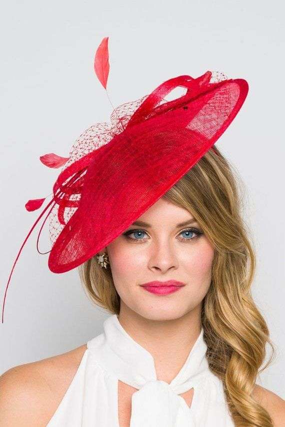 e8f6c2bd2b6e7 Red Fascinator Hat -