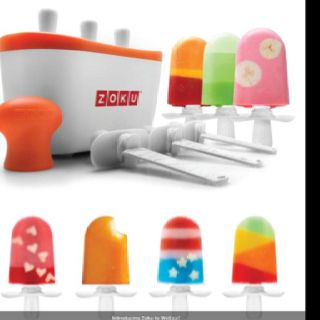 Zoku quick freeze countertop Popsicle maker. 7 minutes and they're ready, no electricity needed. Need it.