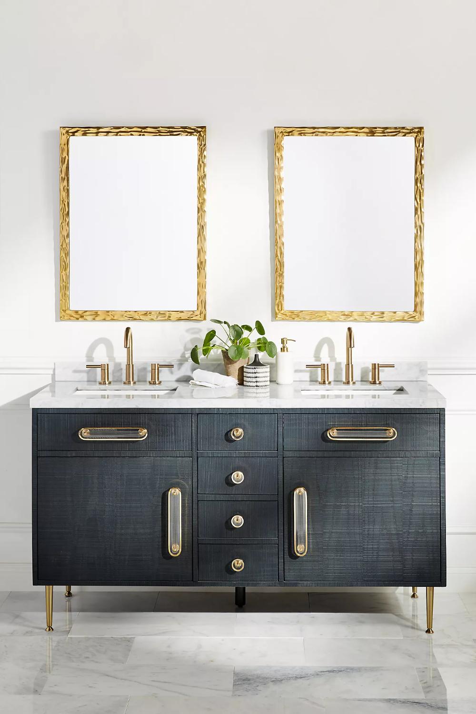 Odetta Double Bathroom Vanity In 2021 Double Vanity Bathroom Unique Bathroom Vanity Bathroom Vanity