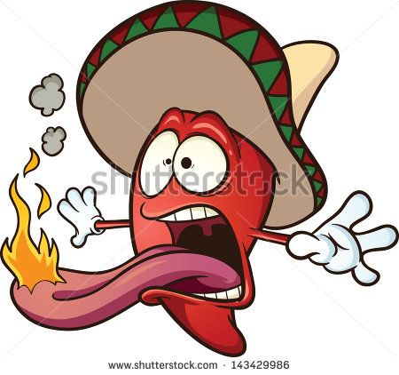 Spicy Chili Pepper Vector Clip Art Illustration Cartoon With Simple