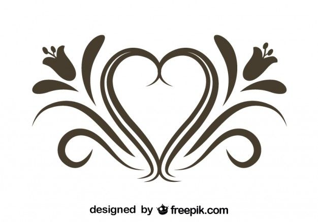 Retro Floral Heart Freepik Flowers Pin 53 Flourish