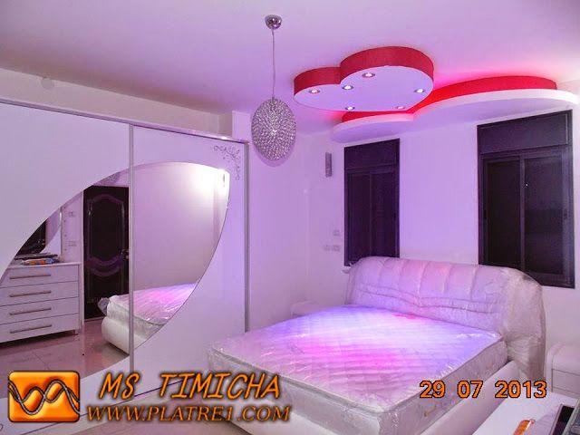 Faux plafond chambre coucher 2015 platre pinterest for Decoration faux plafond chambre