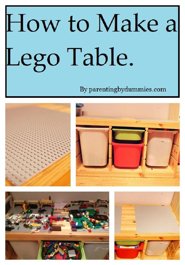 Lego table - as soon as the hubby gets over the stomach bug, this ...