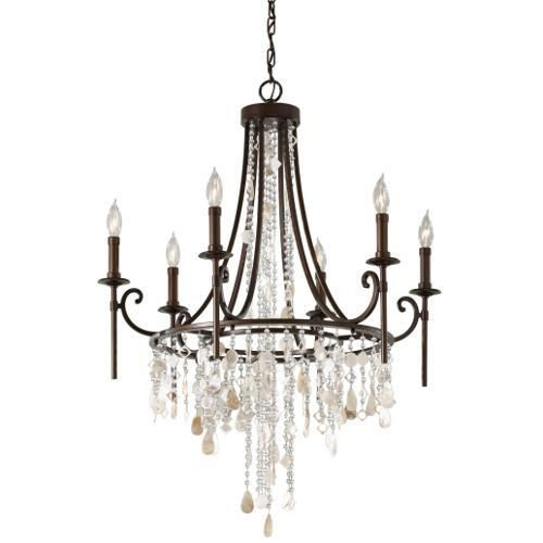 Feiss mf26606htbz cascade mid sized chandelier chandelier heritage bronze at ferguson com