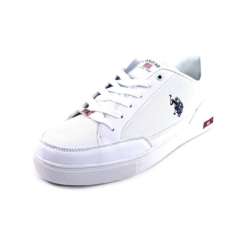 ad0783a865ef US Polo Assn Cale X Womens Size 8 White Faux Leather Sneakers Shoes ...