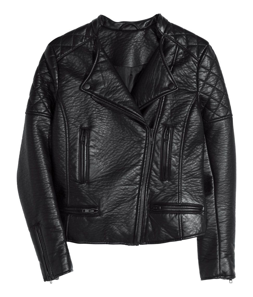 Biker Jacket H&M US (With images) Black quilted jacket