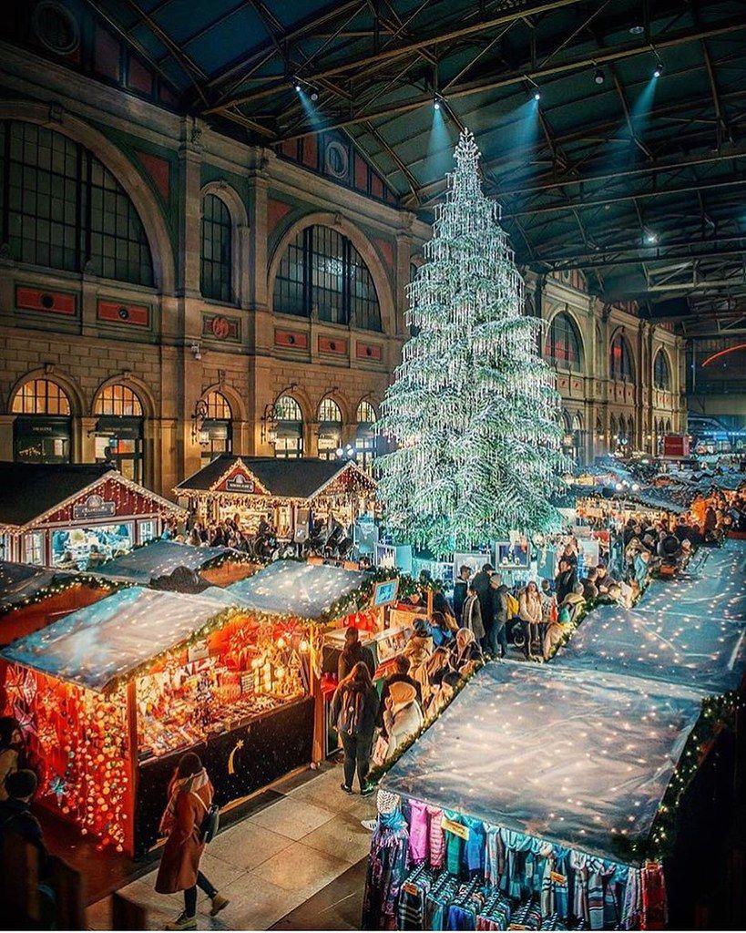 Christmas Market Schweiz Zurich Panorama Christmas Market
