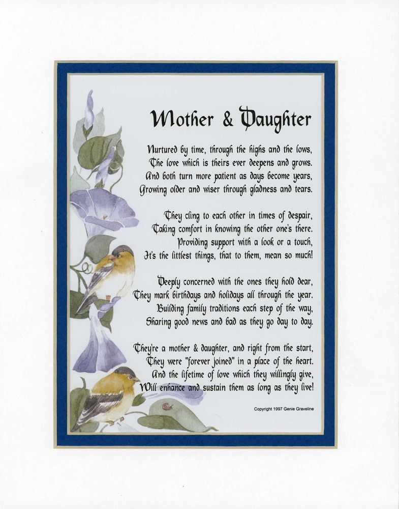 Mother daughter mother poem poems for mothers mom for A gift for a mom