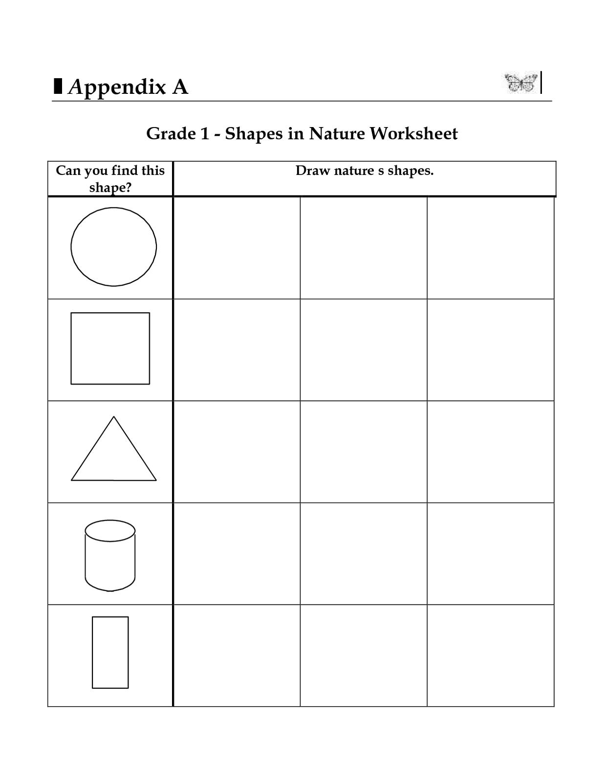 1st Grade Shapes Worksheets For Printable 1st Grade