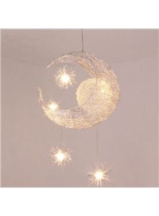 simple style creative star and moon design flush mount dream