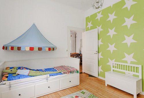 Habitaciones infantiles nórdicas, fantasía y papel pintado • Kids' Rooms in nordic style