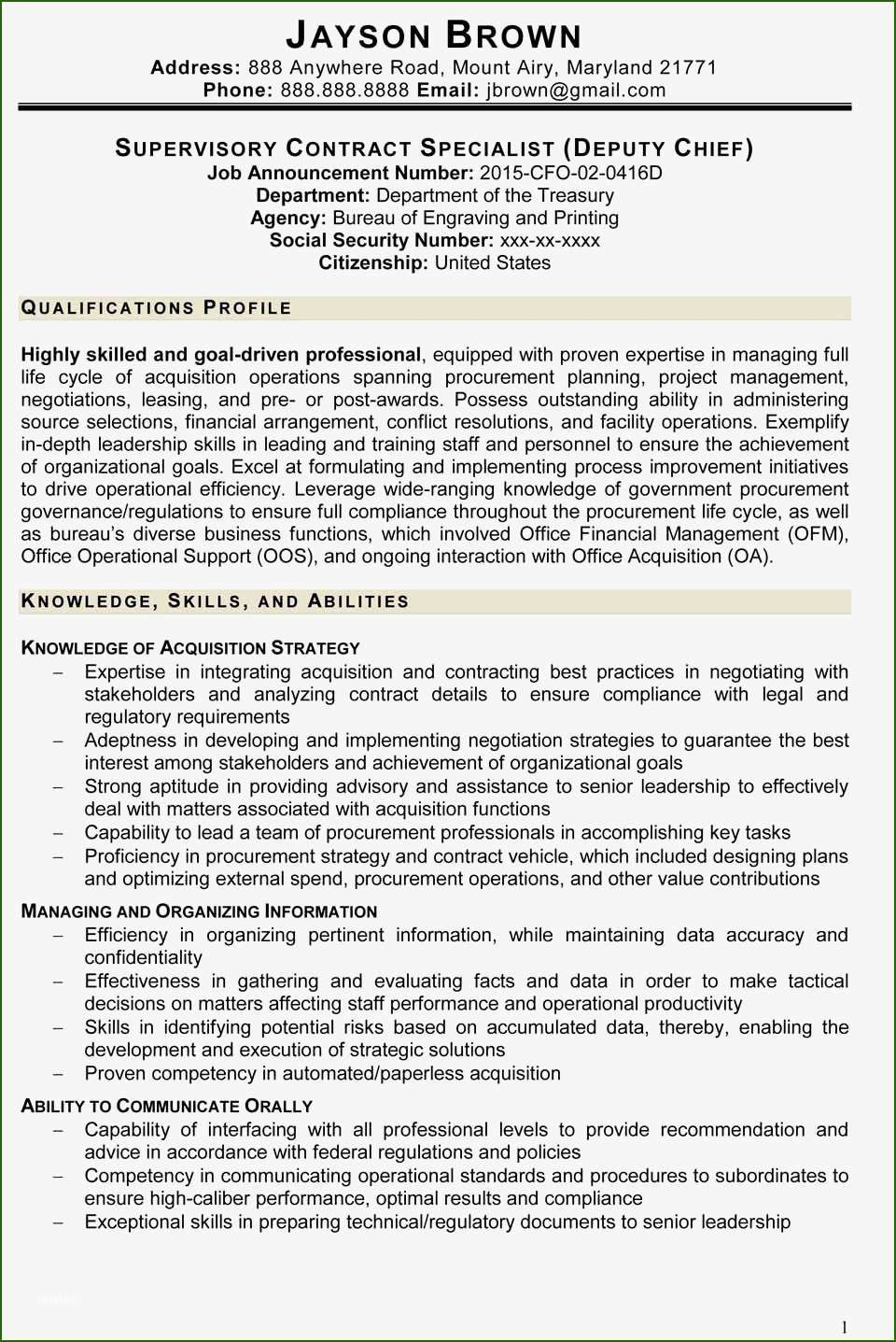 18 exemplary federal resume template 2016 for 2020 in 2020