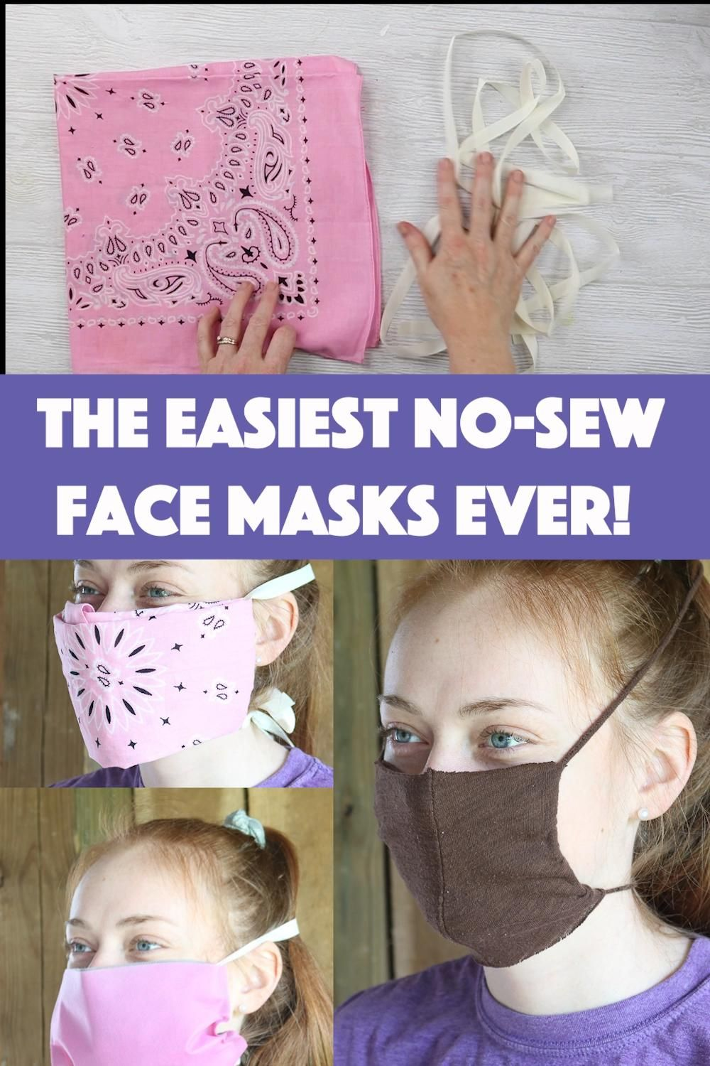The Easiest No-Sew Face Masks Ever