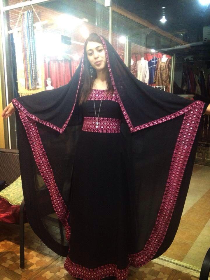 عباية مطرزة تطريز فلاحي فلسطيني Thobe Traditional Dresses Traditional Outfits
