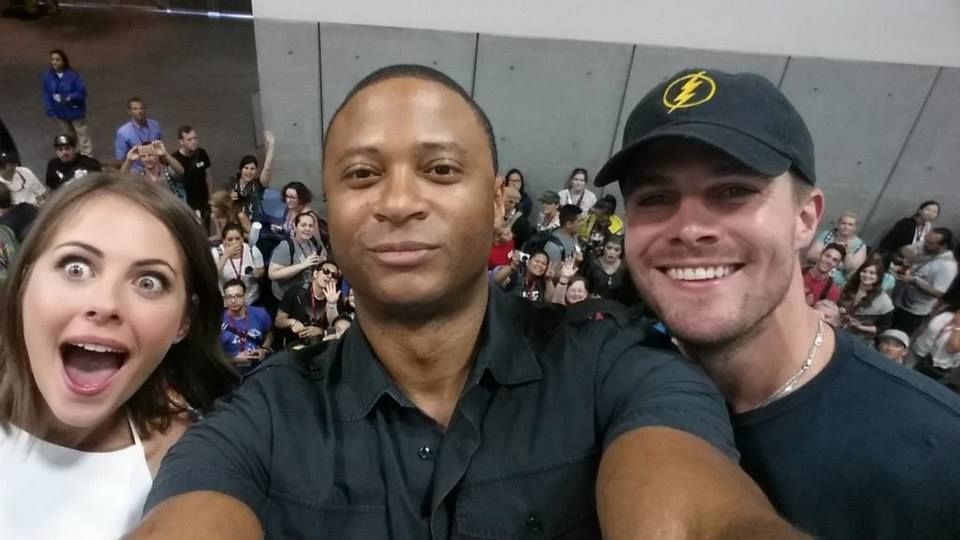 David Ramsey, Willa Holland and Stephen Amell #SDCC